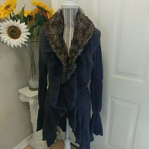 Romeo & Juliet Faux Fur Lined Cardigan
